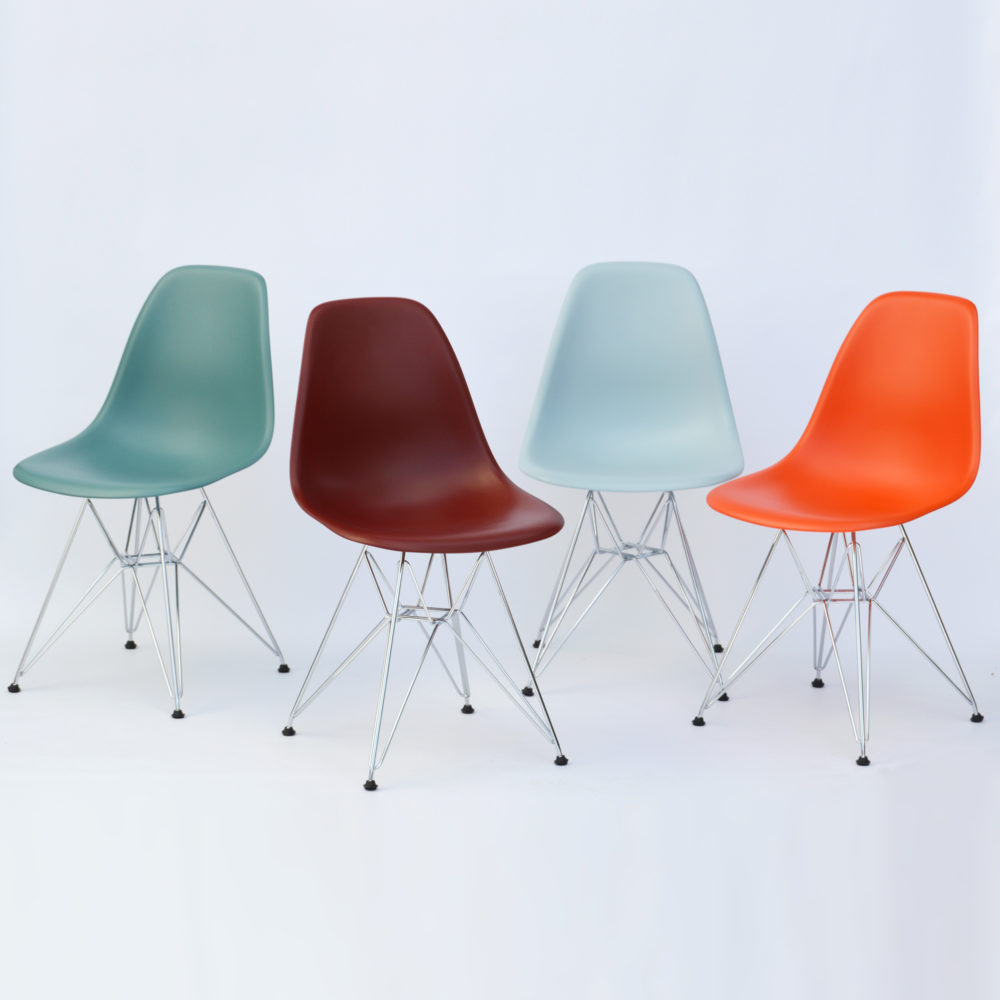 Vitra Eames Side Chair Vitra Eames Plastic Side Chair Dsr Ocean Chrom Neue Höhe