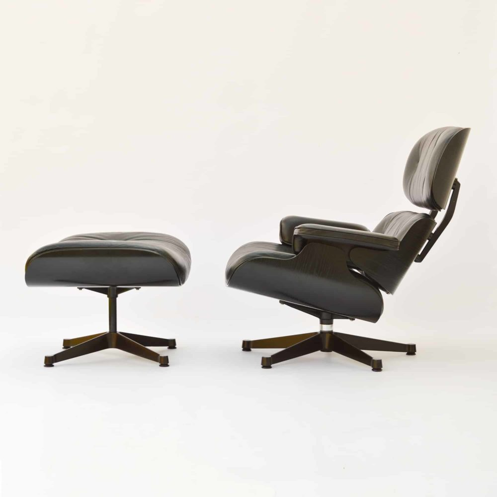 Vitra Eames Lounge Chair Black Vitra Eames Lounge Chair Ottoman Schwarz Gebraucht