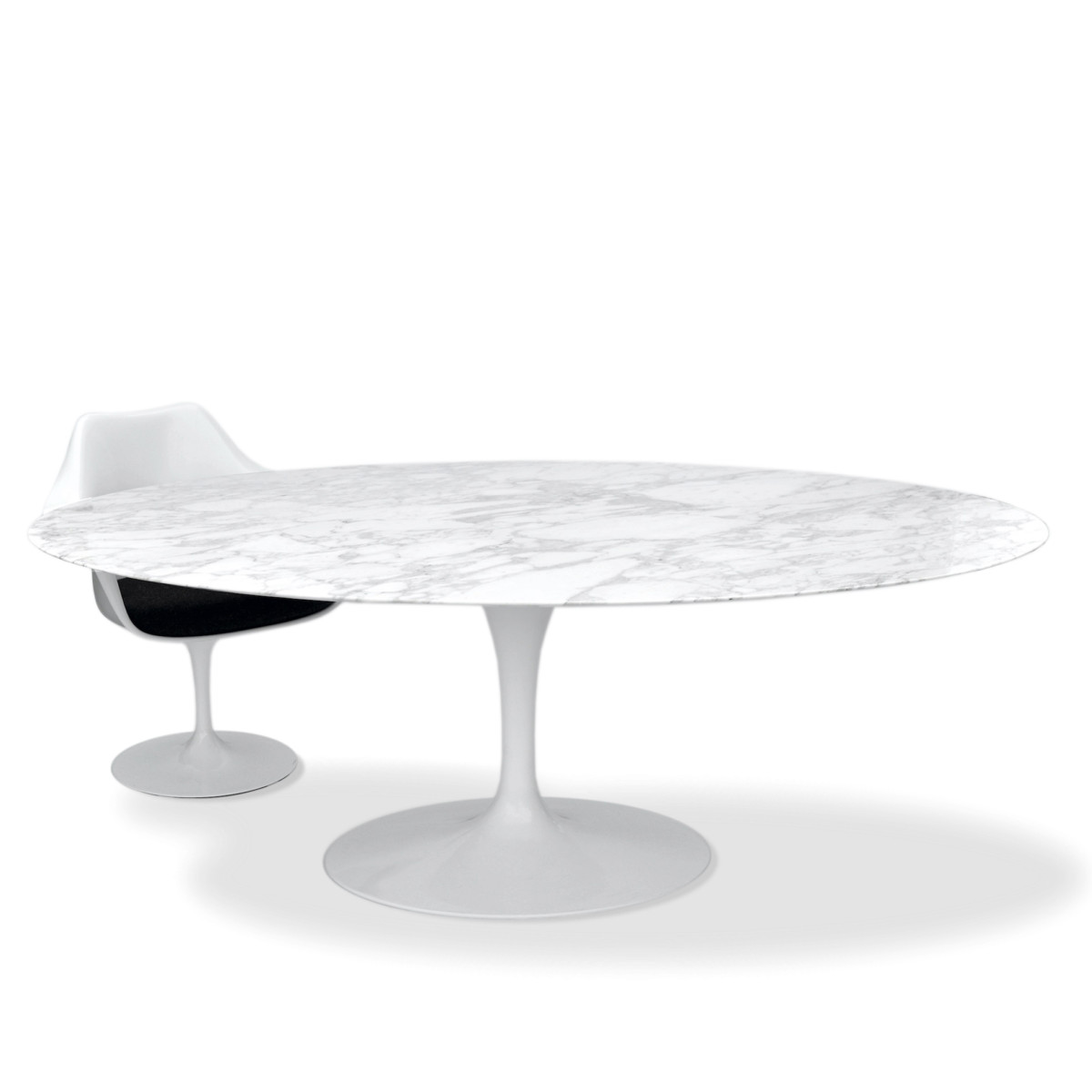 Saarinen Knoll Table Knoll Eero Saarinen Esstisch Oval 198x121cm Arabescato