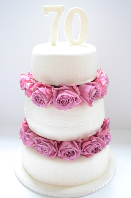 Trendy Dad India Three Tiered Birthday Fondant Cake Midnight Hausfrau Birthday Cake Ideas Three Tiered Birt 70th Birthday Party Ideas Nz 70th Birthday Party Ideas