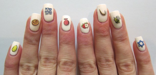 High Holiday Nail Decals by Midrash Manicures