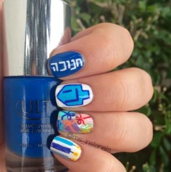 Hanukkah Nail Art