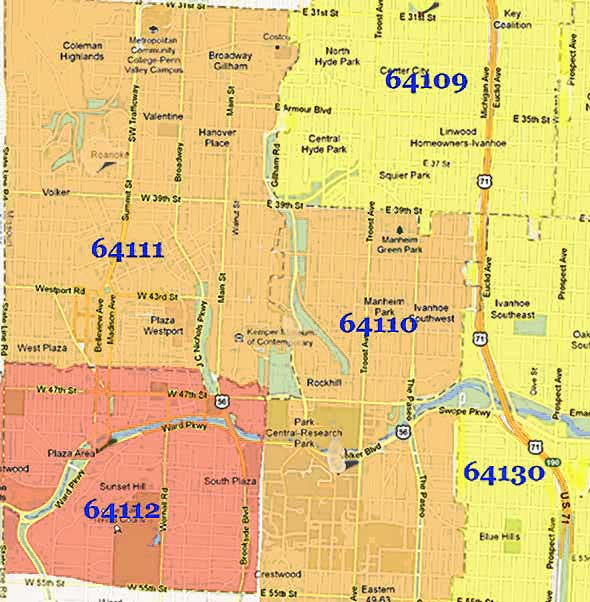 zip code map | Midtown KC Post