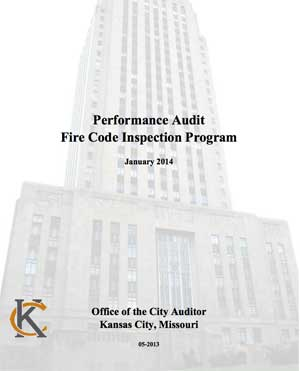 Audit of Kansas City fire department fire inspections.