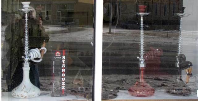 hookah bar window