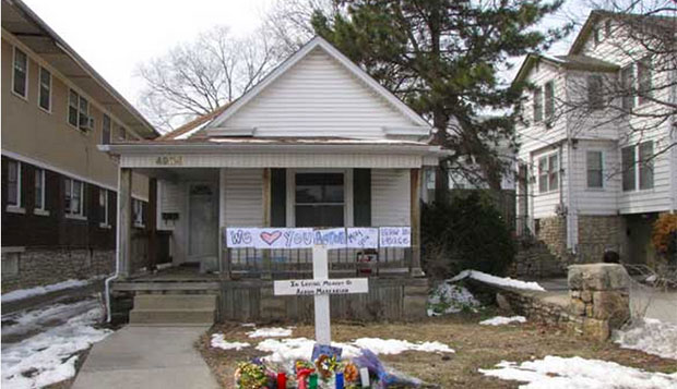 Midtown KC Post file photo. The house where Aaron Markarian was shot.