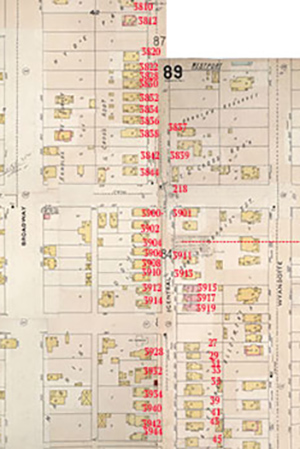 The 3900 block fo Central in 1895.
