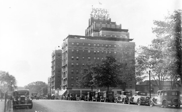 The LaSalle Hotel at the corner of inward and arisen in 1929. Courtesy Kansas City Public Library - Missouri Valley Special Collections.