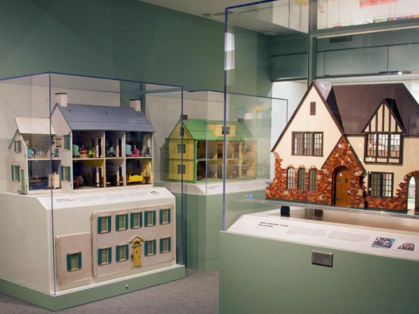 Dollhouses are on display in a newly renovated National Toy and Miniature Museum. All photos courtesy National Toy and Miniature Museum.