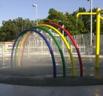 A spraypark in Toronto, courtesy Wikipedia Commons.
