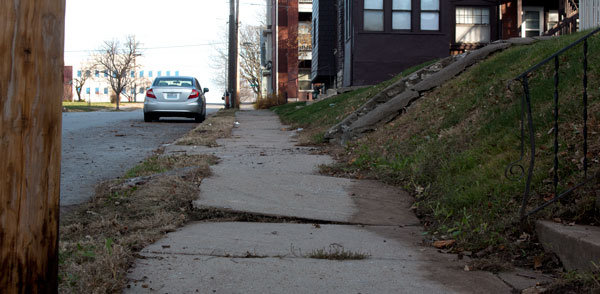 It was complaints about cracks and other sidewalk problems that led Ithaca, New York to develop a new policy on sidewalk repair.