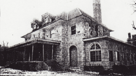 The Henry Fowler residence once stood at the corner of se corner of Main and Armour, serving as a union hall after 1940 and demolished in 1995.