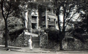 Most of the buildings on the block were single-family homes, often bungalows. The exception was the luxury apartment building at the corner of 42nd and Holmes.