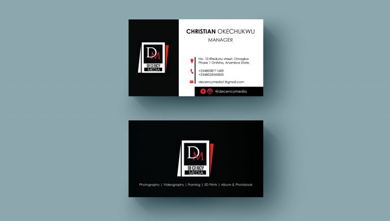 Front and Back BUSINESS CARD Design Miduman