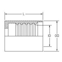 Hydraulic Hose End Fittings Crimp Ferrule 5/8