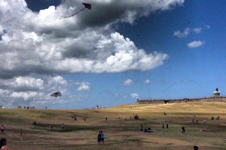 Kites in front of El Morro, San Juan, Puerto Rico