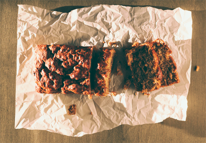 a delicious no egg, no sugar banana bread recipe