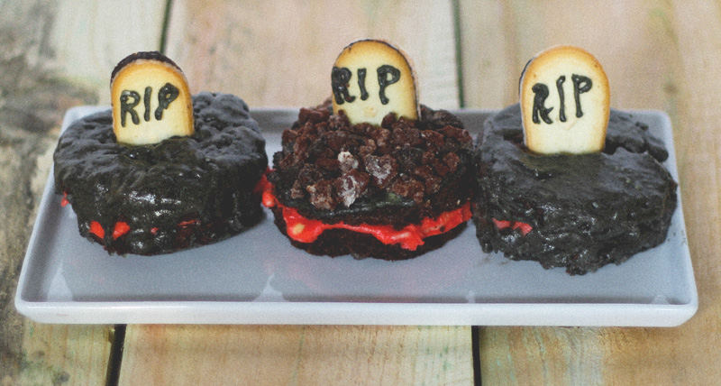 mini halloween cakes #midwestlovefest