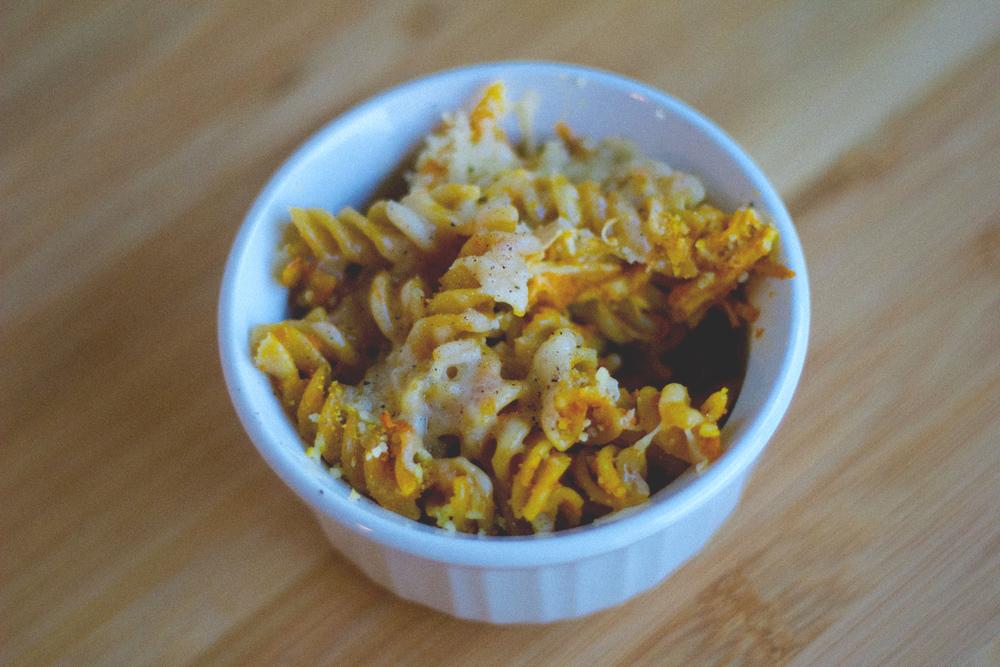 delicious pumpkin sauce pasta bake