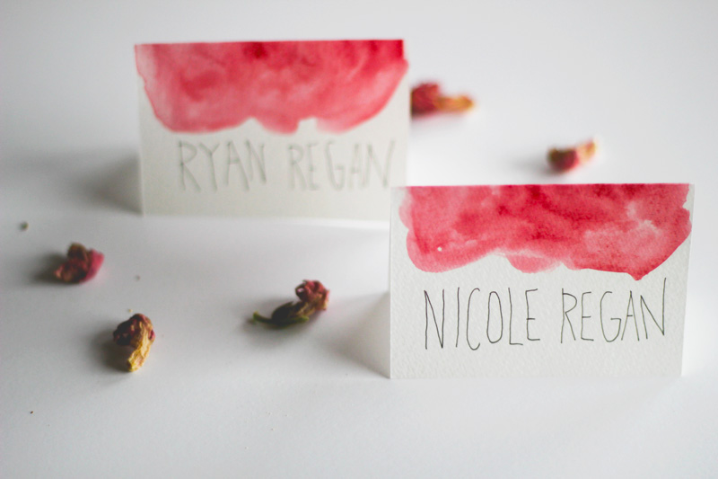 DIY wedding name tents