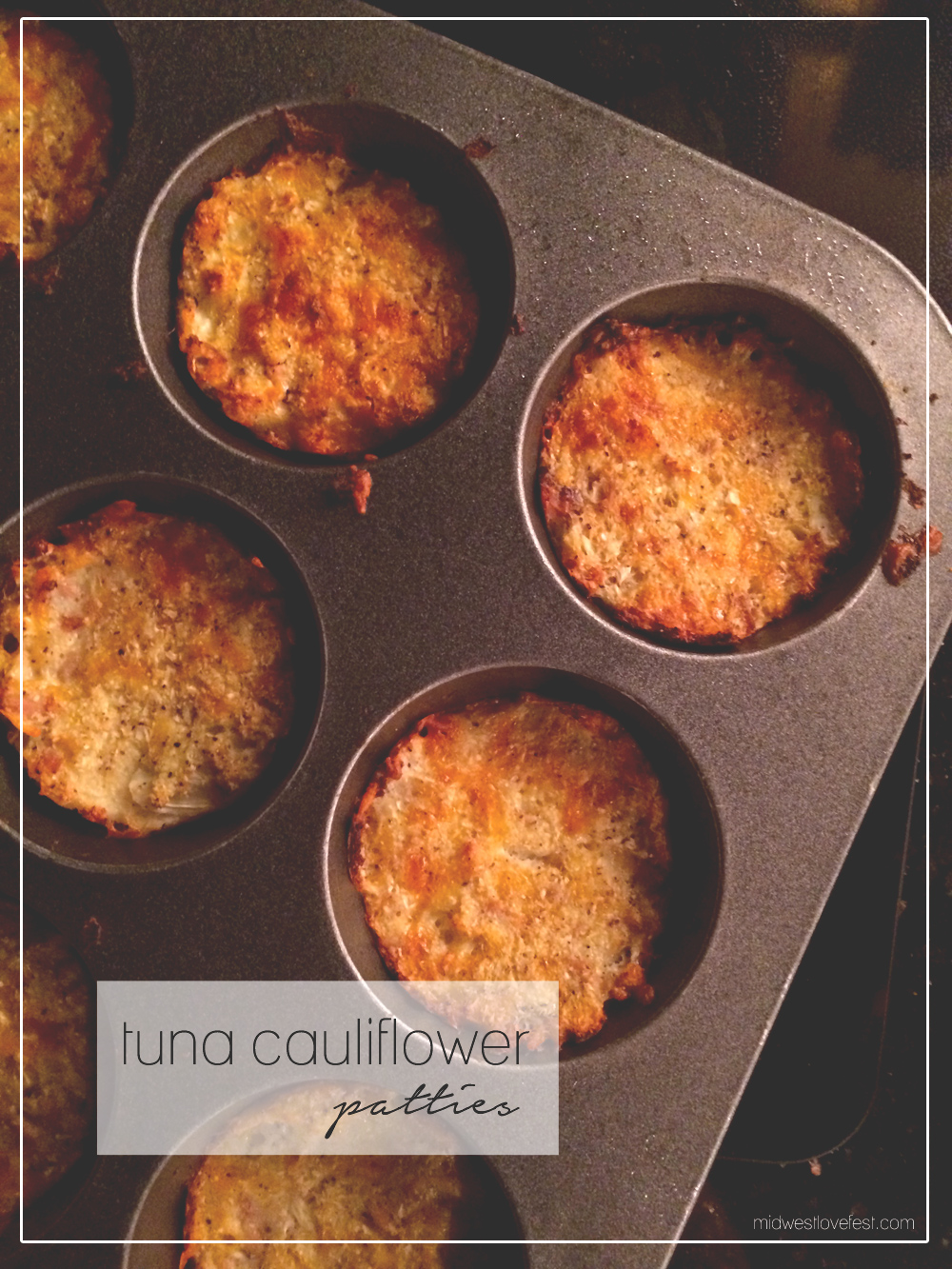 tuna cauliflower patty recipe