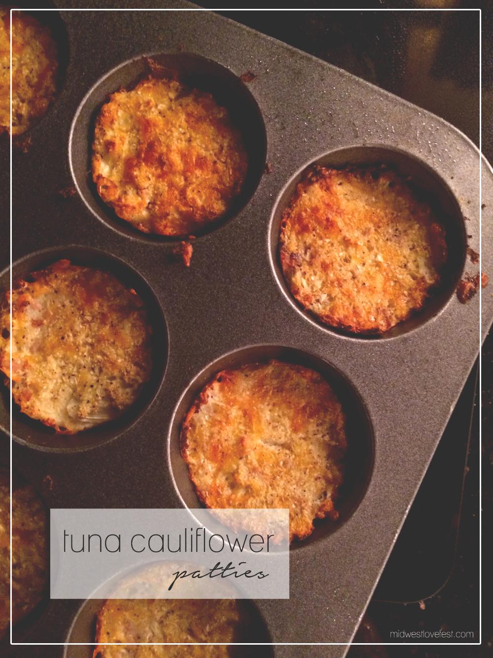 tuna cauliflower patty recipe