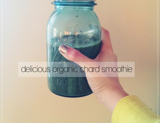 organic (rainbow) chard smoothie that actually tastes good