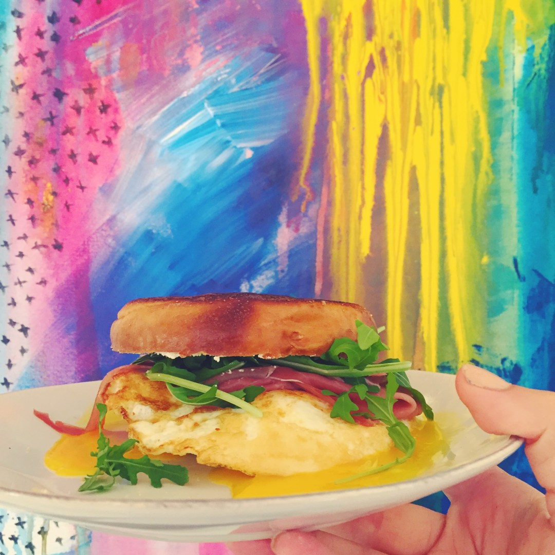 decadent breakfast sandwich (super easy to make)