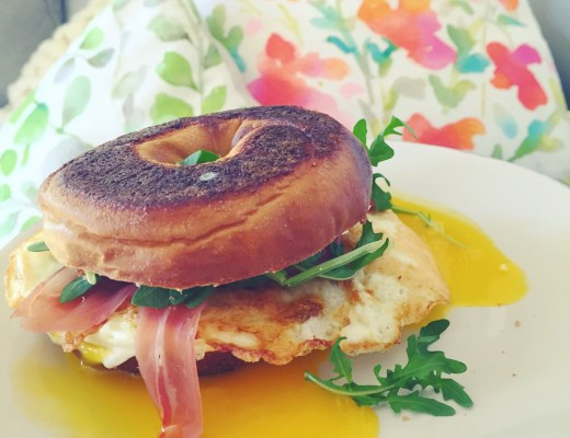 decadent breakfast sandwich