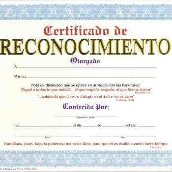 certificado de agradecimiento cristiano -