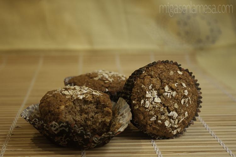 Muffins integrales avena 4