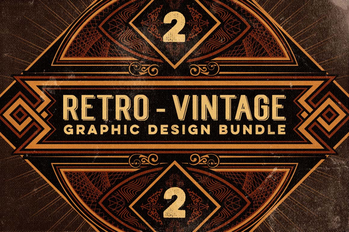 Vintage Design Last Chance Bundle Of 500 43 Retro Vintage Design Elements