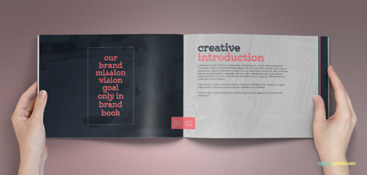 Bundle of 10 Brand Book Templates from ZippyPixels - MightyDeals - manual design templates
