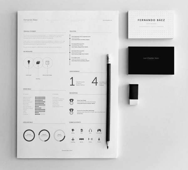 FREE Resume Template by Fernando Báez - MightyDeals - free unique resume templates