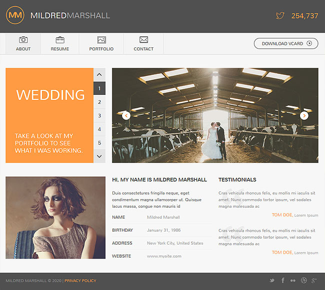 LAST DAY 12 Personal vCard HTML5 Templates from Flashmint - only