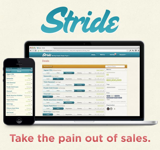 Stride A Simple Sales Tracking App - only $25! - MightyDeals