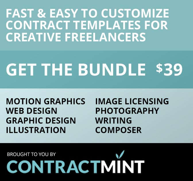 LAST DAY Contract Template Bundle for Creative Freelancers - only - contract clauses you should never freelance without
