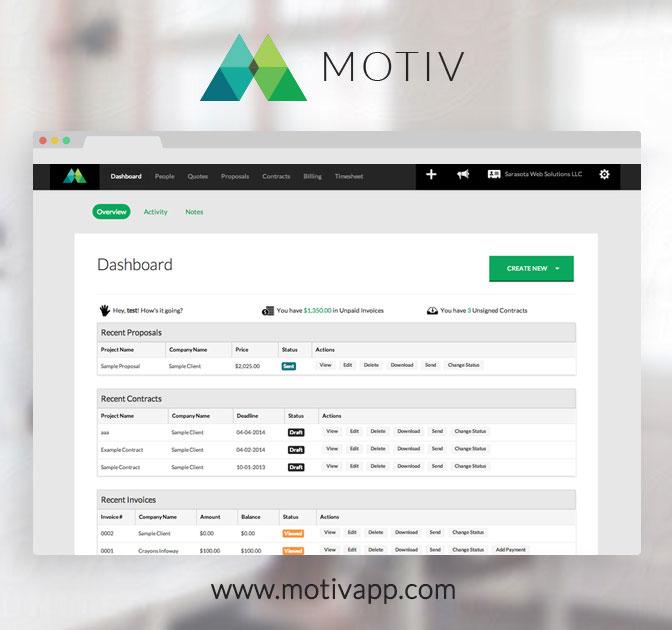 LAST DAY Motiv Web App For Proposals, Contracts,  Invoices \u2013 55 - invoice web app