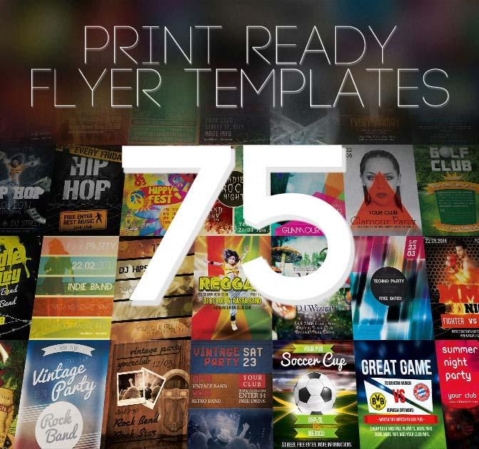 Bundle of 75 Amazing Print-Ready Flyer Templates - $19! - MightyDeals