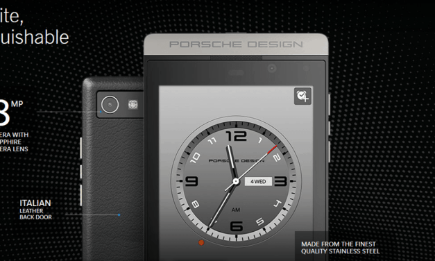 At least Porsche still loves BlackBerry. Releases P'9982