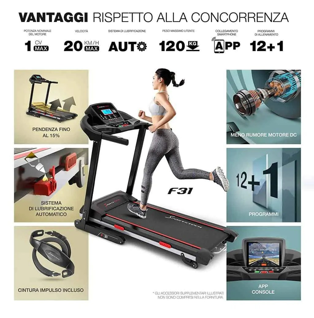 Meglio Tapis Roulant O Cyclette Per Dimagrire Sportstech F31 Miglior Tapis Roulant