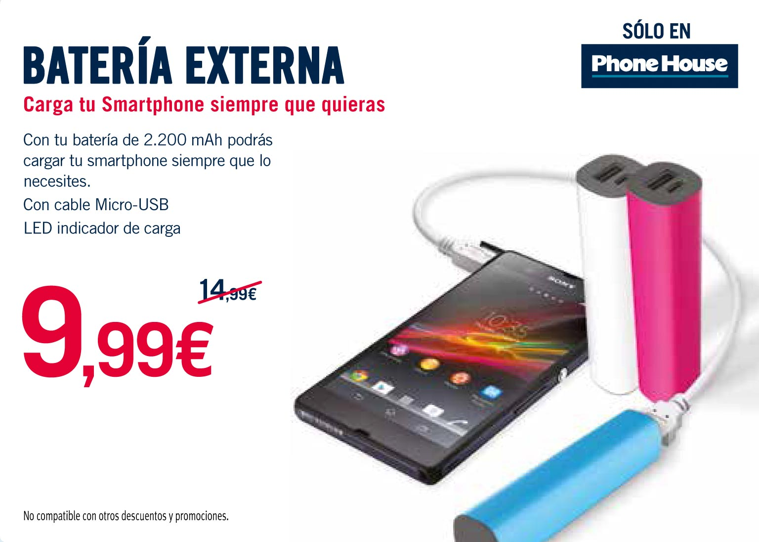 Ofertas Moviles Libres The Phone House Batería Externa Smartphone Por 9 99 En The Phone House Albox
