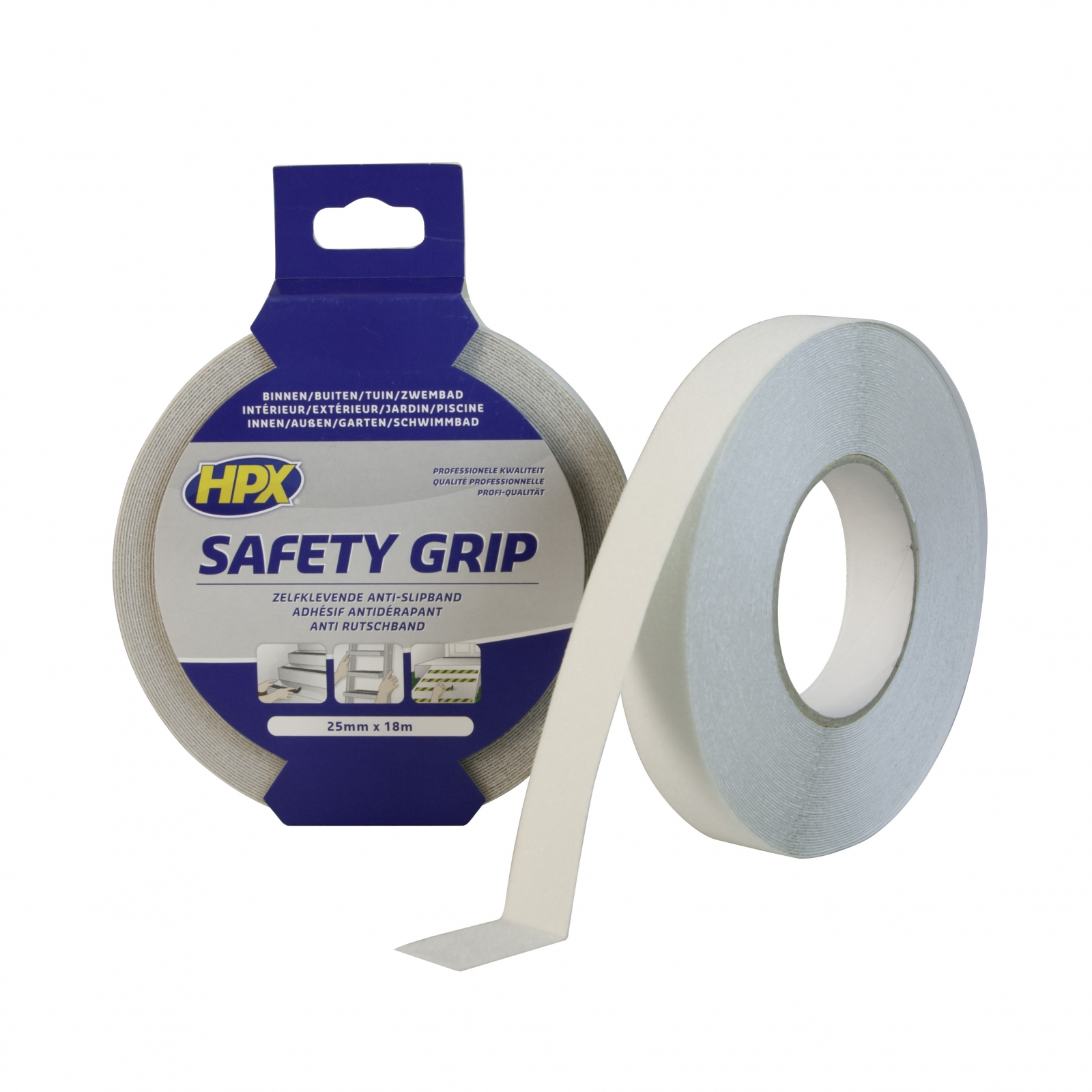 Duct Tape Zwembad Warning Tape Hpx Safety Grip 25mm X 18m Transparent Sc2518 To
