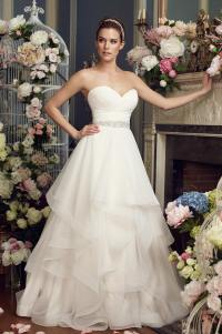 Whimsical Tiered Wedding Dress - Style #2164 | Mikaella Bridal