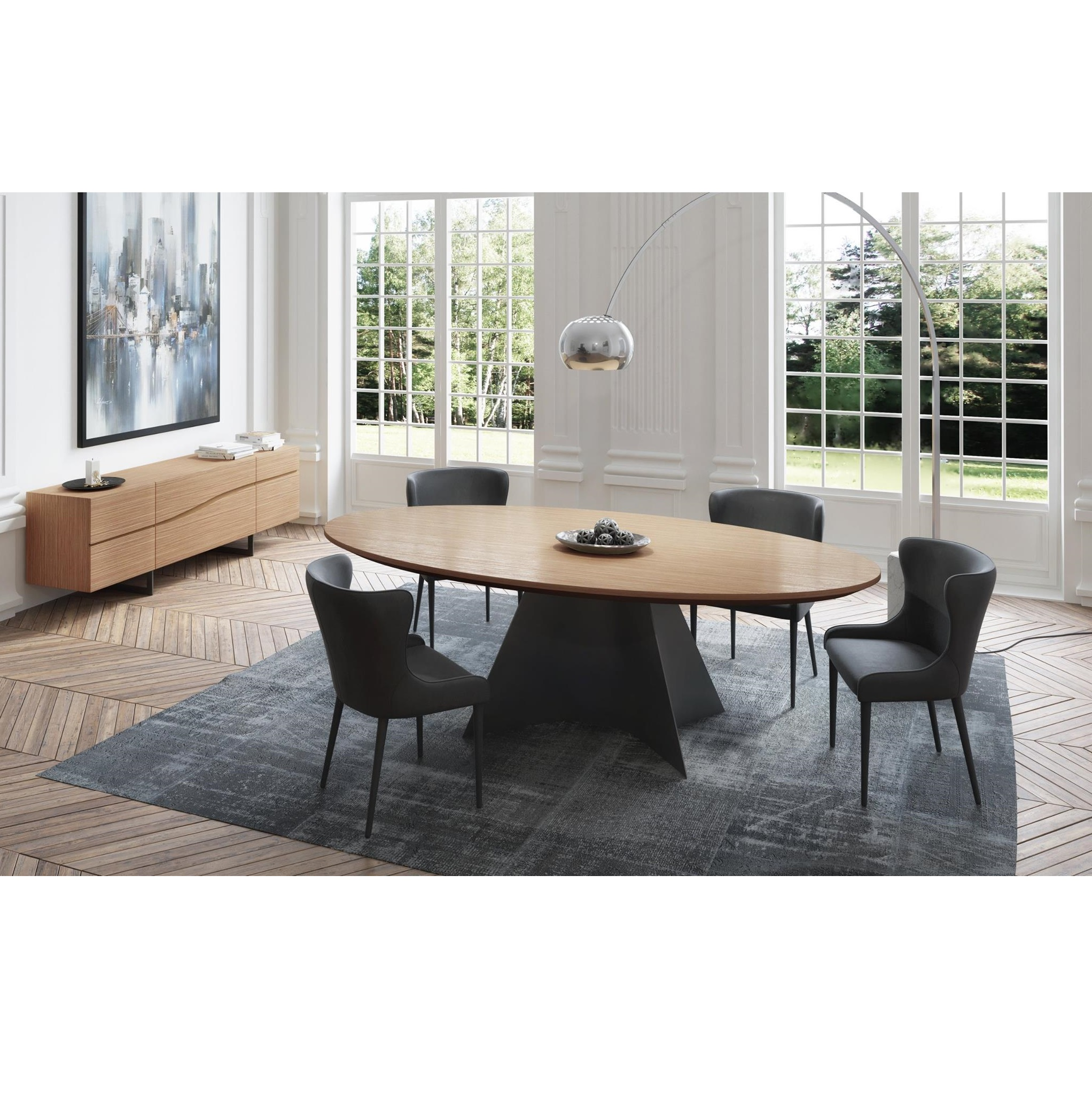 Modern Furniture Ottawa Vincent Oval Dining Table