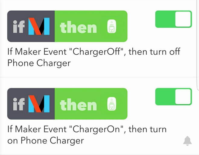 Image of The Rules set up in IFTTT
