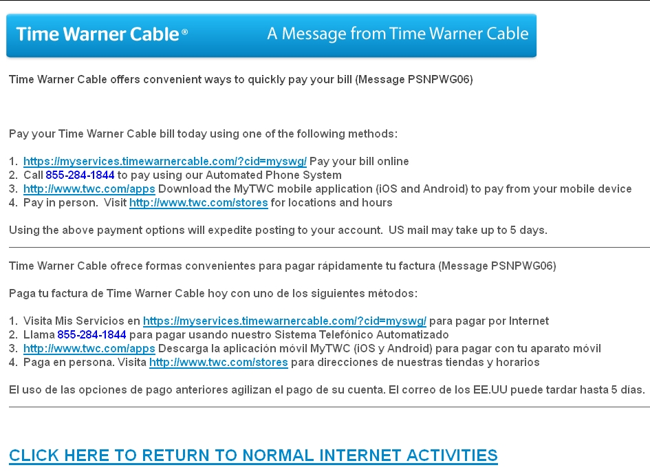 Time Warner Cable Hijacked My Internet Session Mike Cane\u0027s xBlog