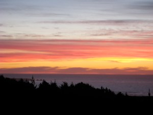 Pichilemu at Sunset - view from Cabanas Buena Vista