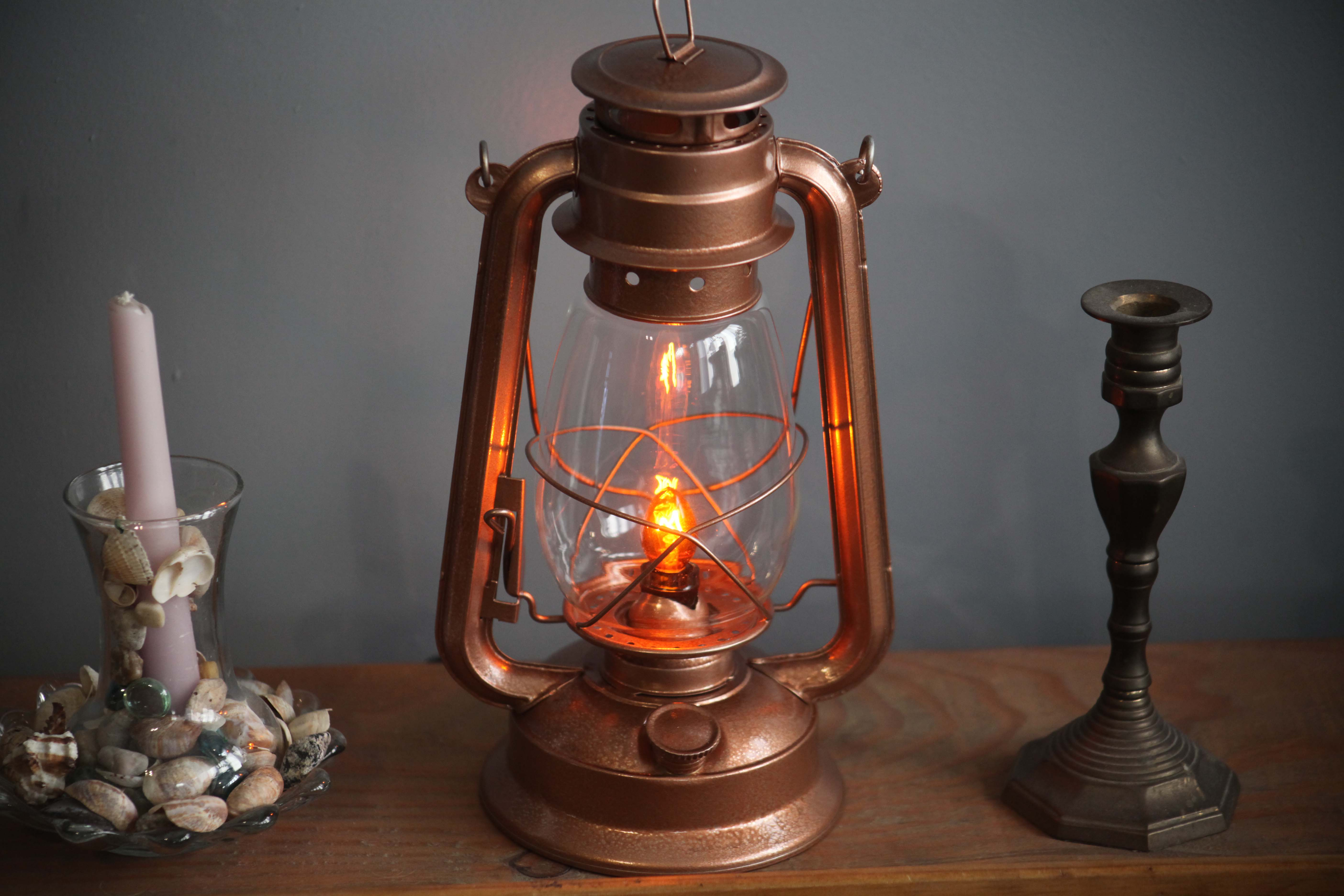 Lamp And Nightlight Electric Lantern Table Lamp Copper Lantern Electric