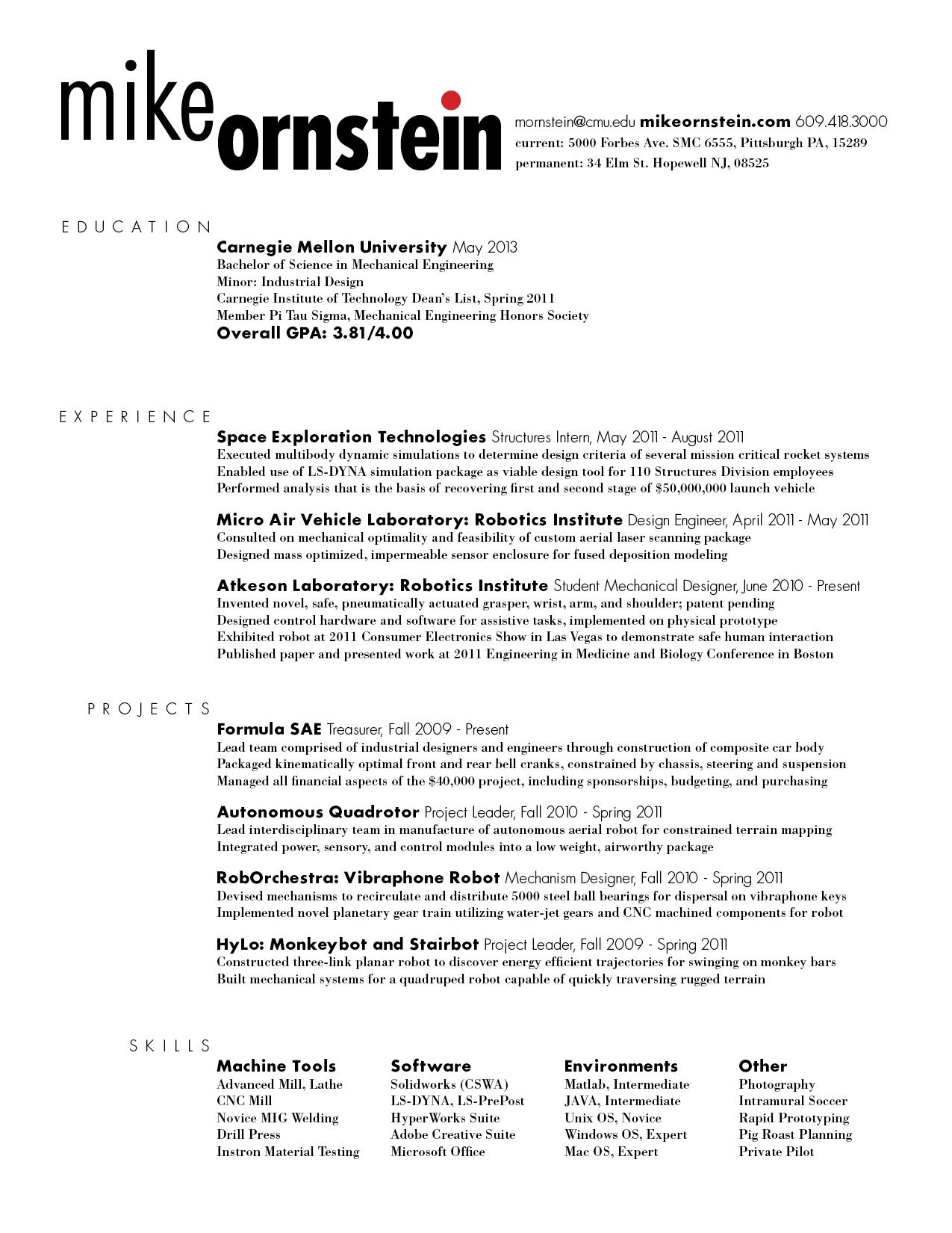 2 column resume